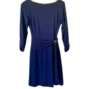 Vintage Cache Jersey Faux Wrap Dress